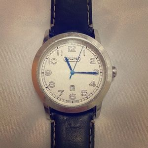 Leather & Silver Vintage Coach Watch